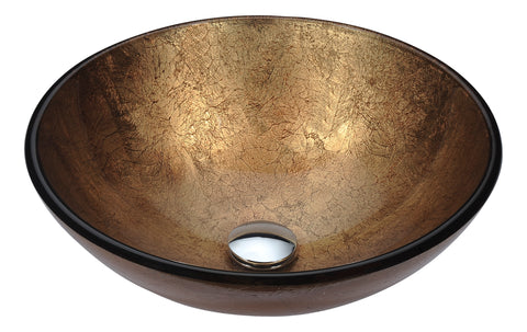 "ANZZI 16"" Posh Series Deco-Glass Vessel Sink in Celestial Earth, LS-AZ293"