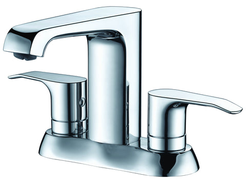 ALFI brand AB1493-PC Polished Chrome Two-Handle 4'' Centerset Bathroom Faucet