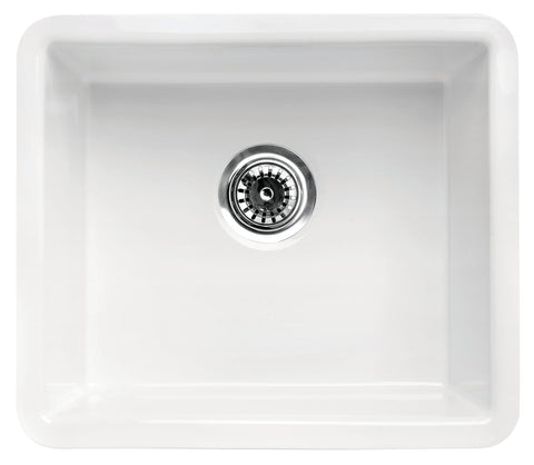 "White Fireclay Undermount Kitchen Sink 20"" x 17"""