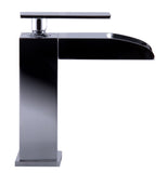 ALFI Polished Chrome Single Hole Waterfall Bathroom Faucet, AB1598-PC