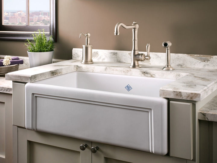 Rohl Shaws 30 Fireclay Farmhouse Sink Casement Edge White Rc3017 The Sink Boutique