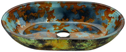 "21"" Voce Series Vessel Sink in Impasto Blue, LS-AZ192 - The Sink Boutique"