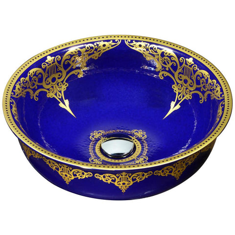 "16"" Scepter Series Vessel Sink in Royal Blue, LS-AZ187 - The Sink Boutique"