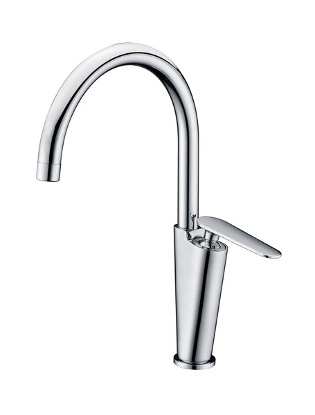 ALFI Polished Chrome Gooseneck Single Hole Bathroom Faucet, AB3600-PC