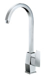 ALFI Polished Chrome Gooseneck Single Hole Bathroom Faucet, AB3470-PC