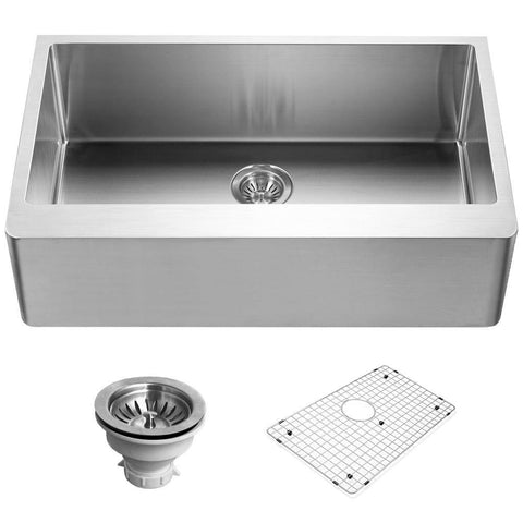 "Houzer 33"" Stainless Steel Farmhouse Apron Front Kitchen Sink, ENG-3320 - The Sink Boutique"