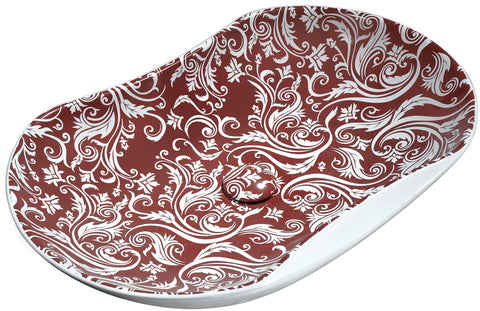 "ANZZI 26"" Fleur Ecarlate Ceramic Vessel Sink in Crimson Finish, LS-AZ250"