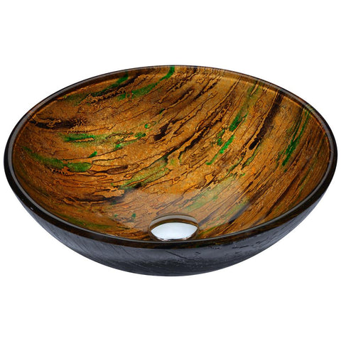 "16"" Nile Series Vessel Sink in Shifting Earth, LS-AZ206 - The Sink Boutique"