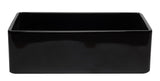 ALFI brand AB3320SB-BG 33 inch Black Reversible Single Fireclay Farmhouse Kitchen Sink Front