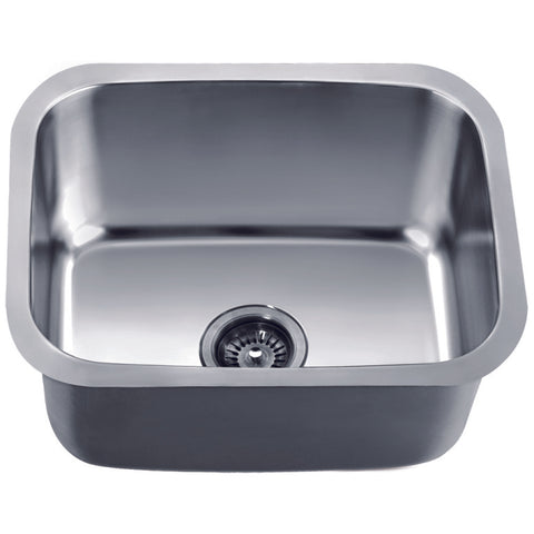 "Dawn 21"" Stainless Steel Undermount Kitchen Sink, ASU103"