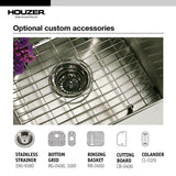 "Houzer 32"" Stainless Steel Undermount 80/20 Double Bowl Kitchen Sink, MG-3209SR-1 - The Sink Boutique"