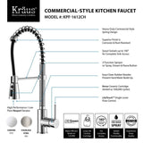"Kraus 33"" Farmhouse Kitchen Sink with Kitchen Faucet and Accessories, KHF200-33-KPF1612-KSD30 - The Sink Boutique"