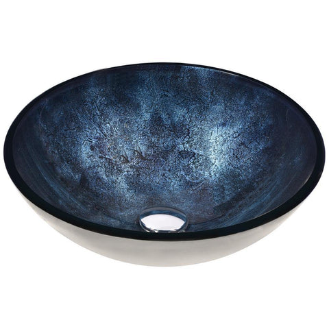 "16"" Chrona Series Vessel Sink in Starlit Midnight, LS-AZ211 - The Sink Boutique"