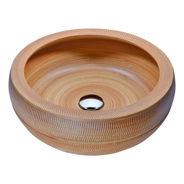 "16"" Regalia Series Vessel Sink in Styled Chestnut, LS-AZ189 - The Sink Boutique"