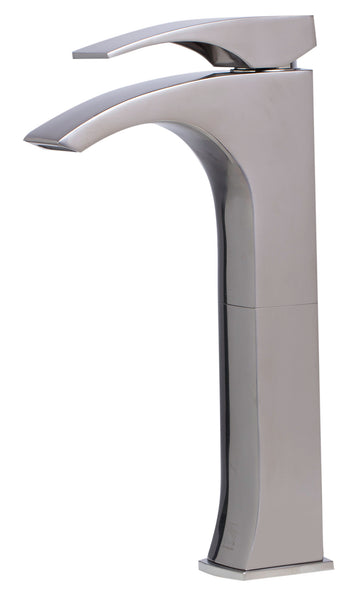 ALFI Tall Brushed Nickel Single Lever Bathroom Faucet, AB1587-BN
