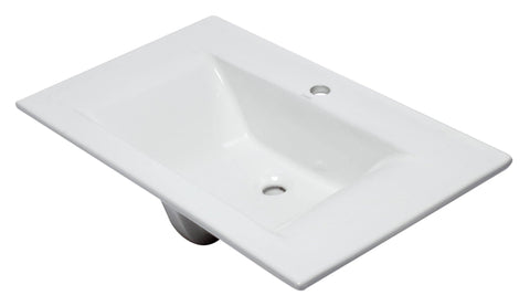 "Eago 19"" Porcelain Bathroom Sink, White, BB127"