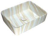 "ANZZI 18"" Marbled Series Ceramic Vessel Sink in Marbled Cream Finish, LS-AZ243"