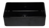 ALFI brand AB3320SB-BG 33 inch Black Reversible Single Fireclay Farmhouse Kitchen Sink Angled