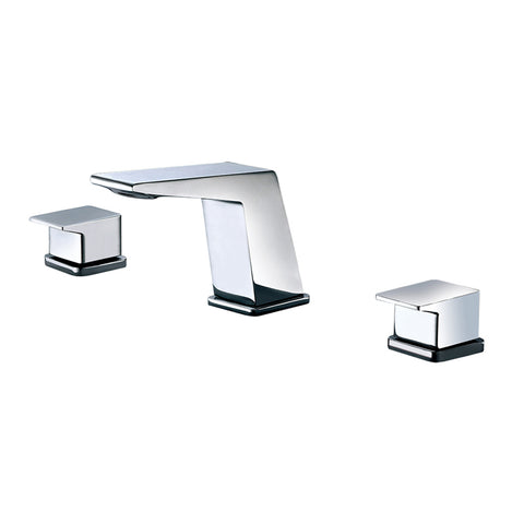 ALFI Polished Chrome Modern Widespread Bathroom Faucet, AB1471-PC