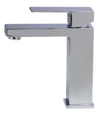 ALFI Polished Chrome Square Single Lever Bathroom Faucet, AB1229-PC - The Sink Boutique