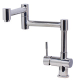 ALFI Solid Polished Stainless Steel Retractable Single Hole Kitchen Faucet, AB2038-PSS