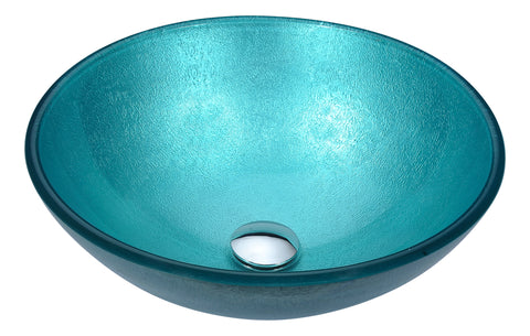 "ANZZI 16"" Posh Series Deco-Glass Vessel Sink in Coral Blue, LS-AZ281"