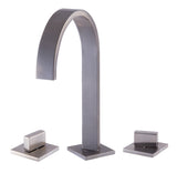 ALFI Brushed Nickel Gooseneck Widespread Bathroom Faucet, AB1336-BN