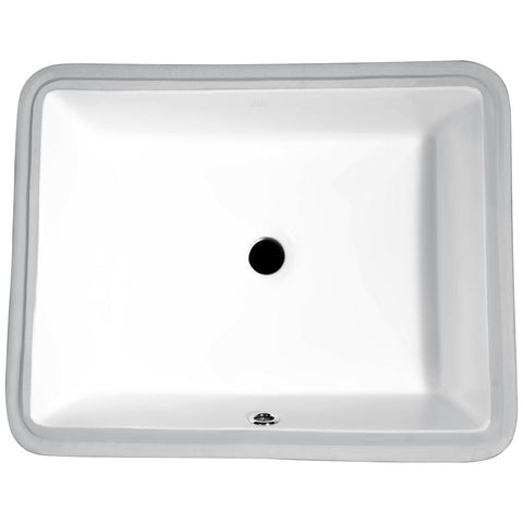 "19"" Dahlia Series 7.25 in. Ceramic Undermount Sink Basin in White, LS-AZ128 - The Sink Boutique"