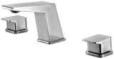 ALFI Brushed Nickel Modern Widespread Bathroom Faucet, AB1471-BN