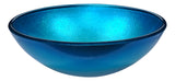 "16"" Posh Series Deco-Glass Vessel Sink in Silver Blue, LS-AZ282 - The Sink Boutique"