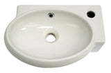ALFI Small White Wall Mounted Ceramic Bathroom Sink Basin, AB107 - The Sink Boutique