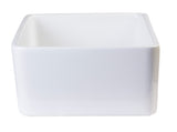 "ALFI 23"" Fireclay Smooth Apron Single Bowl Farmhouse Kitchen Sink, White, AB503-W - The Sink Boutique"