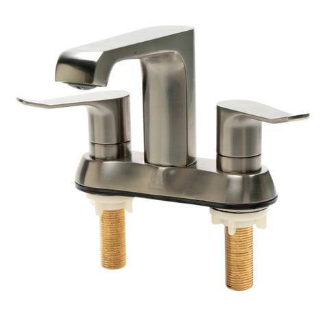 ALFI brand AB1493-BN Brushed Nickel Two-Handle 4'' Centerset Bathroom Faucet