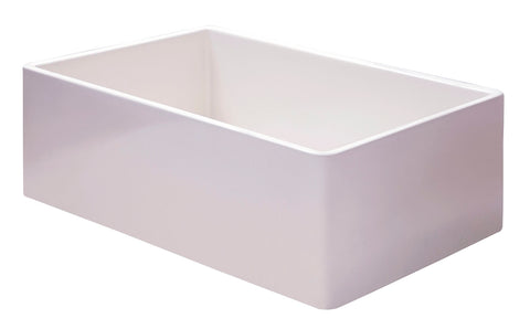 "ALFI brand 36"" Fireclay Farmhouse Sink, White, AB536-W"