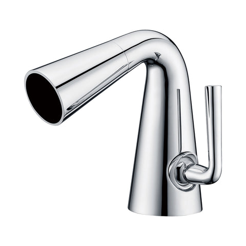ALFI Polished Chrome Single Hole Cone Waterfall Bathroom Faucet, AB1788-PC