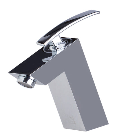 ALFI Polished Chrome Single Lever Bathroom Faucet, AB1628-PC