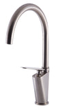 ALFI Brushed Nickel Gooseneck Single Hole Bathroom Faucet, AB3600-BN - The Sink Boutique