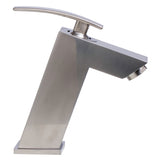 ALFI Brushed Nickel Single Lever Bathroom Faucet, AB1628-BN - The Sink Boutique