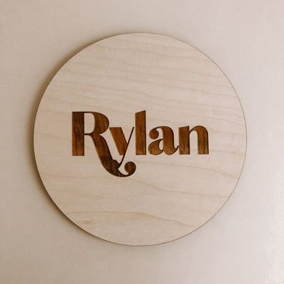 Retro Baby Name Plaque