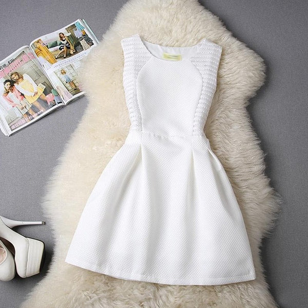 Autumn Winter Women Dress 2018 Vintage Sexy A Line Party Dresses Female Elegant Casual Sleeveless Lace Dress vestidos - NaomisStore.com