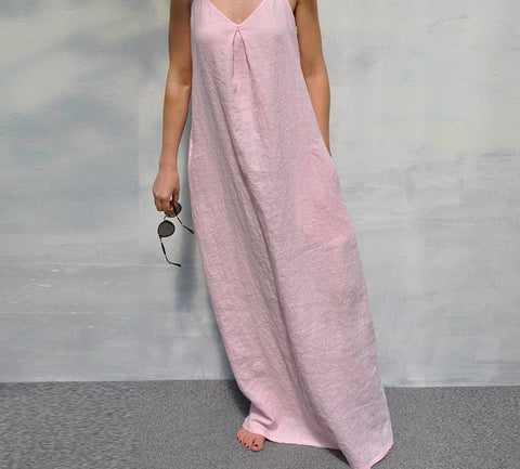 New Arrival  Women Dress Casual Loose Long Maxi Party Dresses
