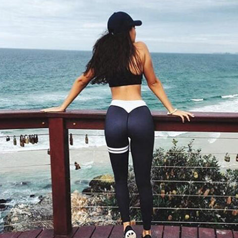 2018 Plus Size Casual PushUp Fitness Sporting Leggins Gothic Print High Waist Elastic Women Sportwear Workout Leggings For Women - NaomisStore.com