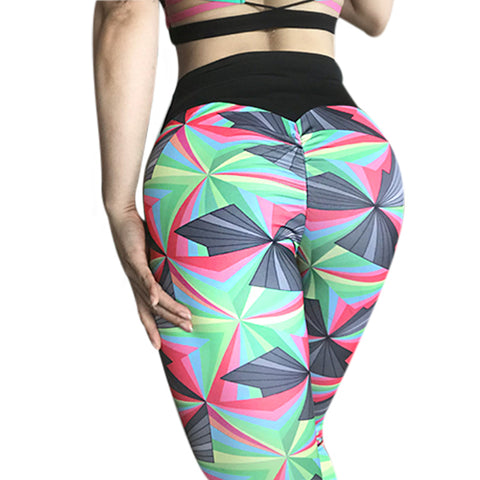 Women Yuga Pants Fitness Clothing Sporting Colorful Leggings Breathable 2018 Sportswear High Waist Silm Push Up Leggings