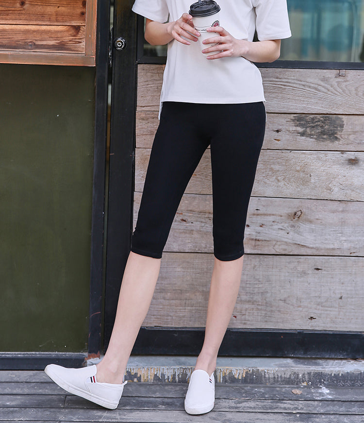 2018 New Summer Women Short Legging Thin Women Outside Large Size Stretch Grey Black Leggings - NaomisStore.com