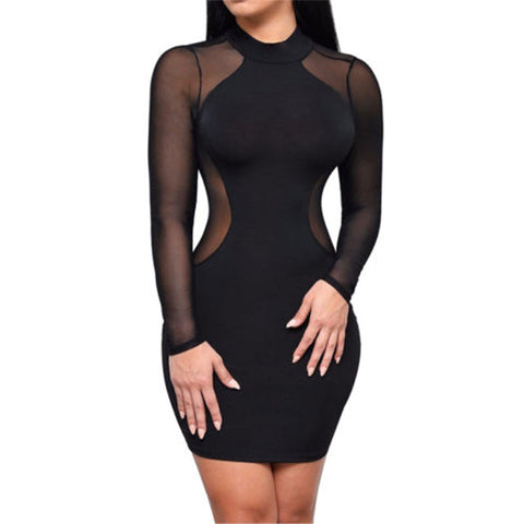 Sexy Women Dress See Through Mesh Bandage