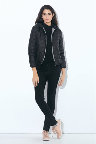 Brand Autumn spring Women Basic Jacket Female Slim clothes Zipper Hooded Cotton Coats Casual Black Winter Jackets plus size - NaomisStore.com