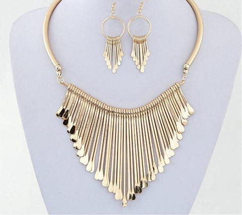Jewelry Set Trendy Chunky Tassel Necklaces