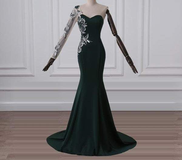 Dark Green Evening Dresses