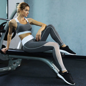 Female Clothing Two Piece Yuga Set Women Fitness Tracksuit Bra+Leggings Sporting Pants Women Suits Sexy Leggin Slim Sportswear