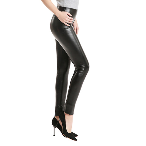 Velvet Leather Leggings
